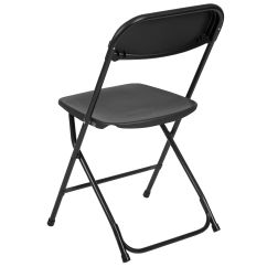 Folding Chair Nylon Swivel Legs Black Plastic Le L 3 Bk Gg Bizchair