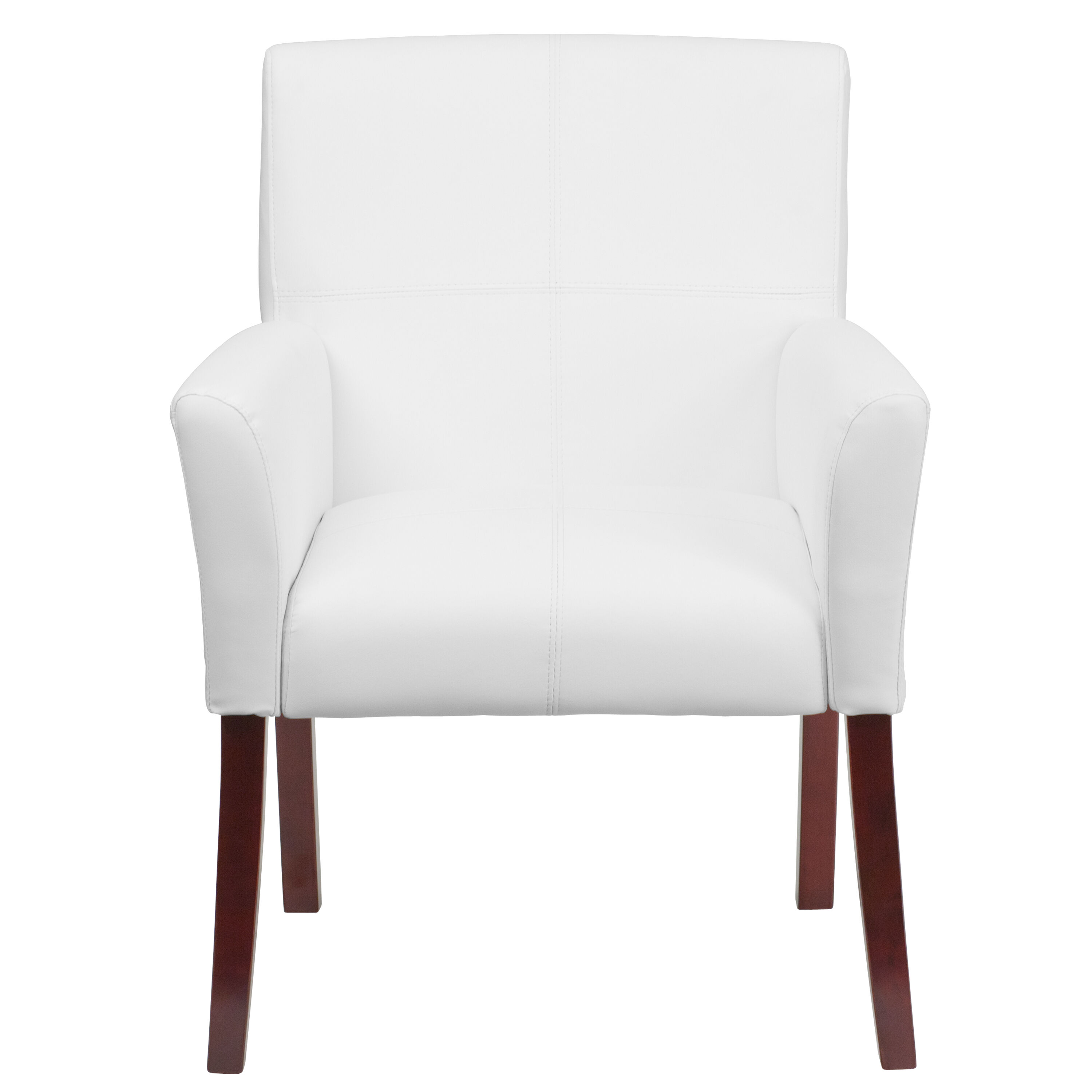 white leather chairs for sale wheelchair ramp van side chair bt 353 wh gg bizchair com our executive reception with mahogany legs is on now