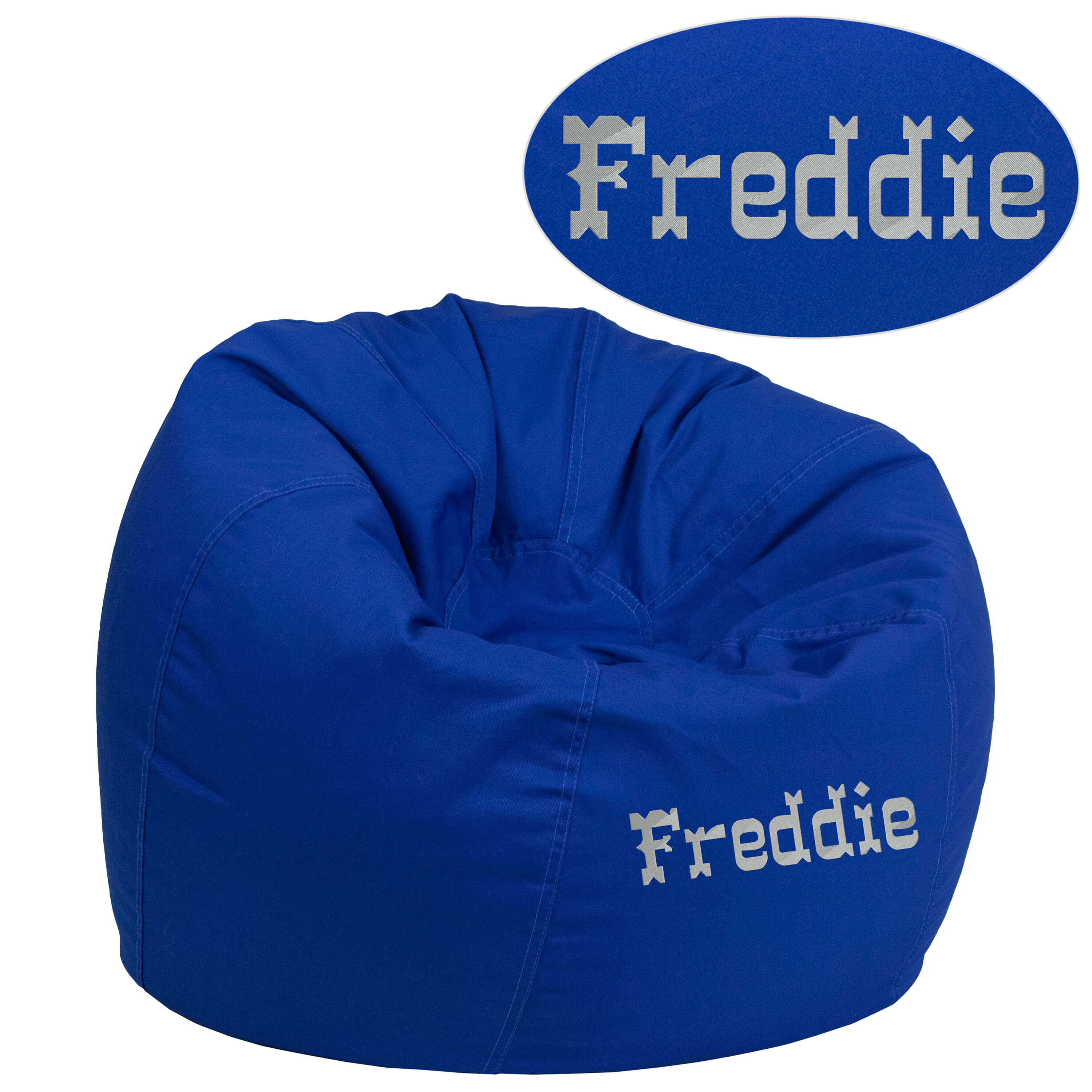 child bean bag chair personalized best for pc gaming reddit small solid royal blue kids