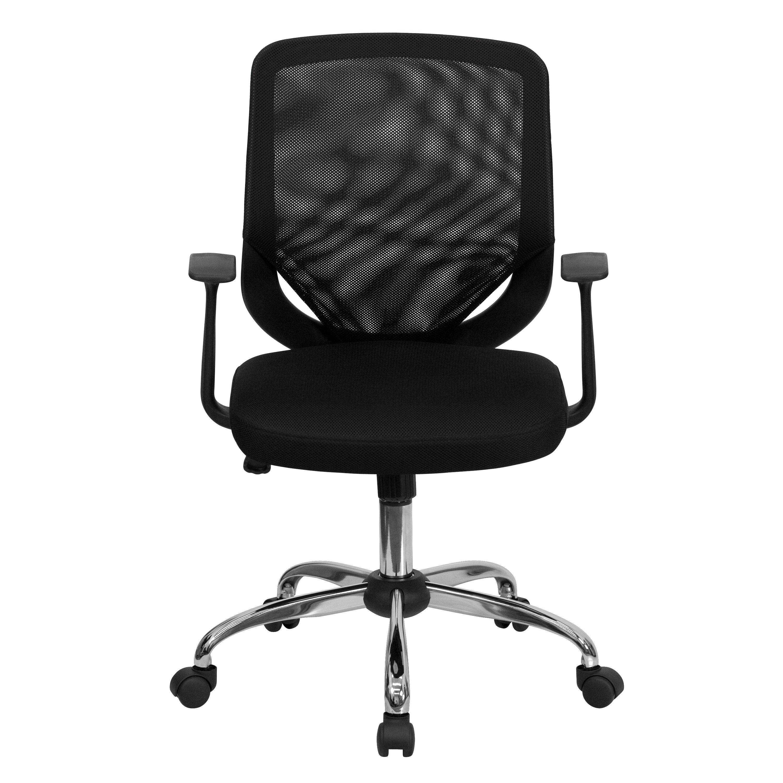 office chair base home depot beach chairs black mid back task mesh lf w95 bk gg bizchair com