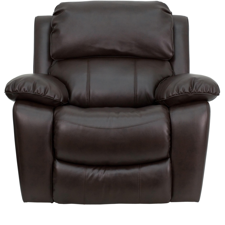 biz chair com egg swing stand brown leather rocker recliner men da3439 91 brn gg