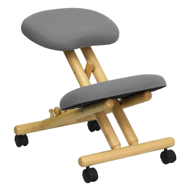 amazon kneeling chair pottery barn beach gray mobile wood kneeler wl sb 101 gg bizchair