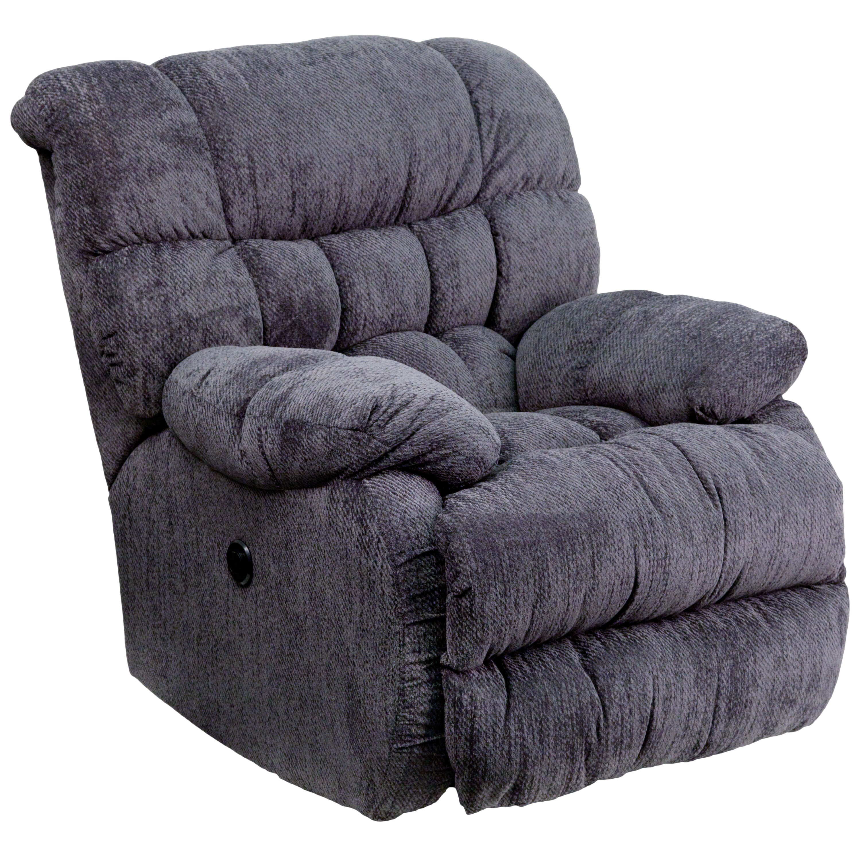 push button recliner chairs unfinished ladder back flash furniture contemporary columbia indigo blue