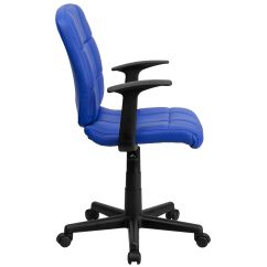 Quilted Swivel Chair Panton S Replica Blue Mid Back Task Go 1691 1 A Gg Bizchair