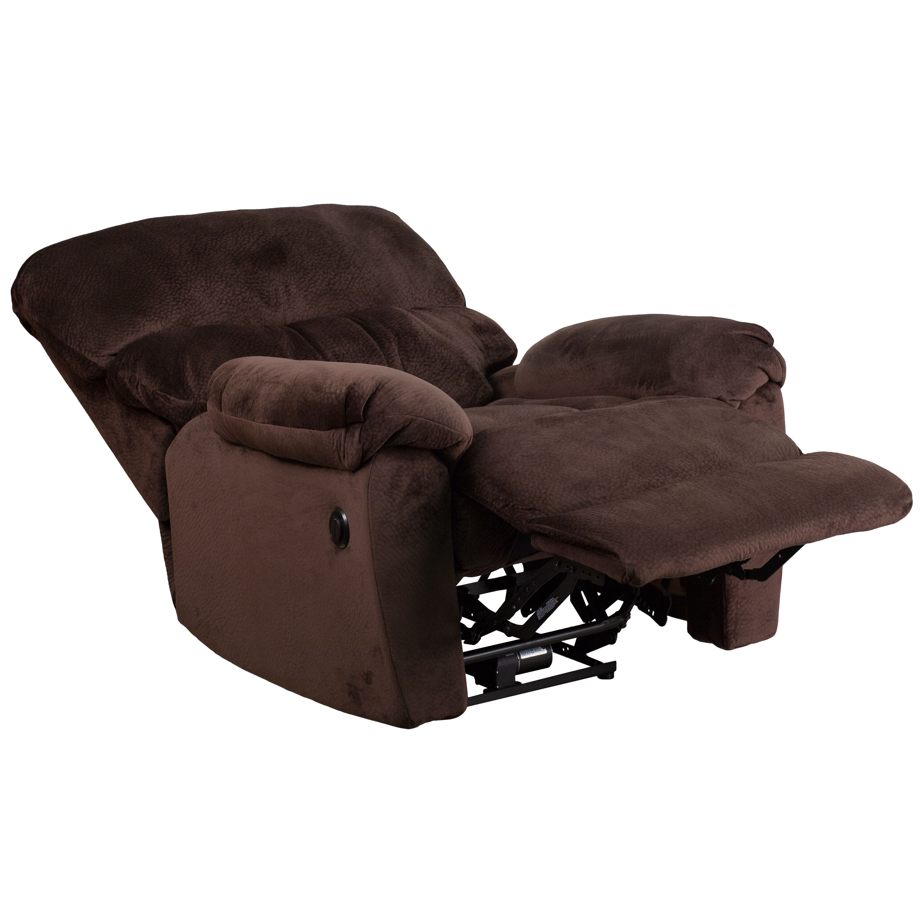 push button recliner chairs wooden rocking chair plans chocolate mic power am p9998 5980 gg bizchair