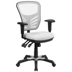 Office Chair With Adjustable Arms Bar Height Adirondack Chairs White Mid Back Mesh Hl 0001 Wh Gg Bizchair Com