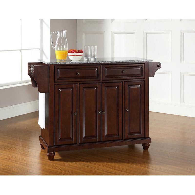 mahogany kitchen island blue cabinets kf30003dma bizchair