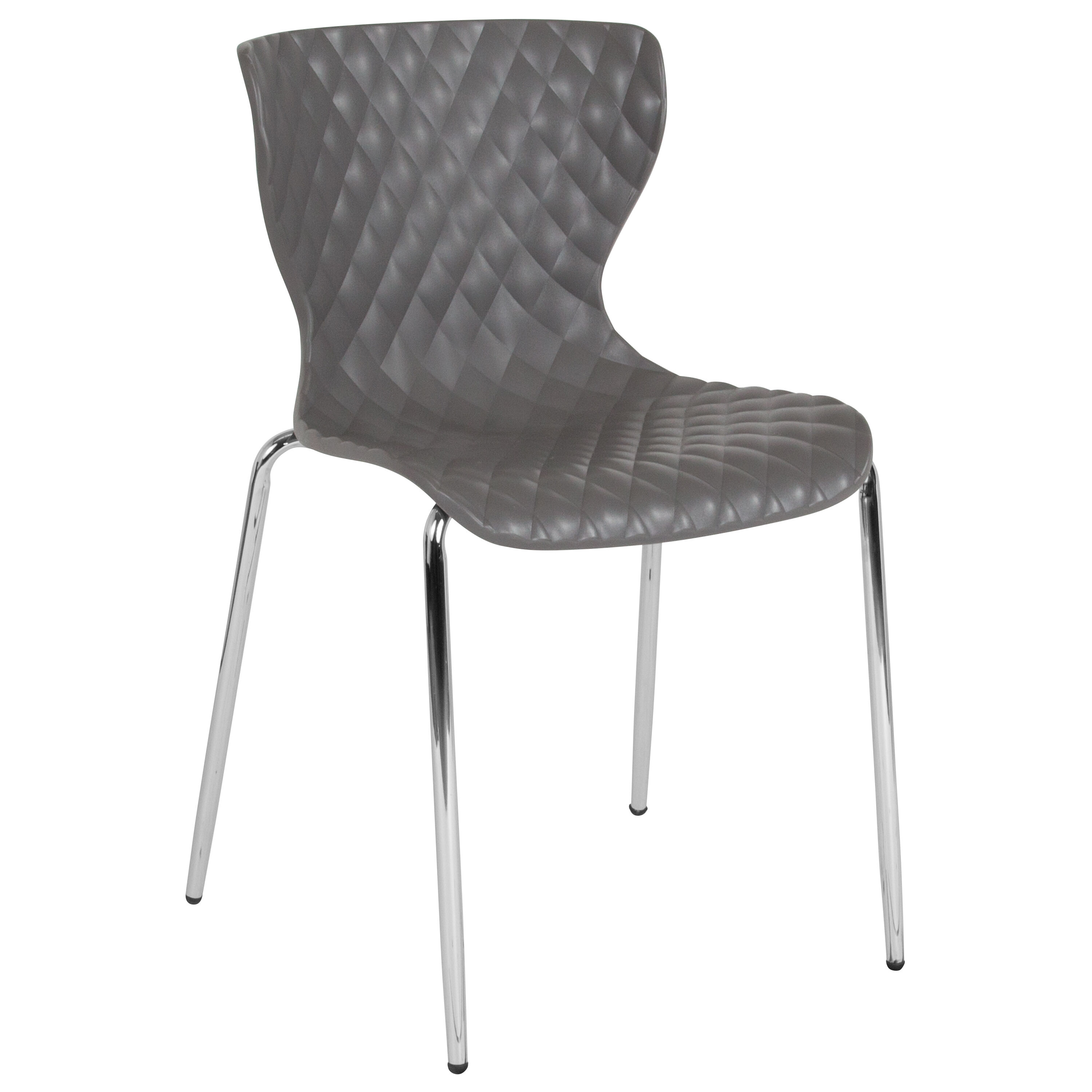 Gray Plastic Stack Chair Lf-7-07c-gry-gg