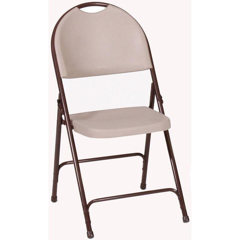 armless folding chair black faux leather mocha plastic rc350 24 bizchair com images our