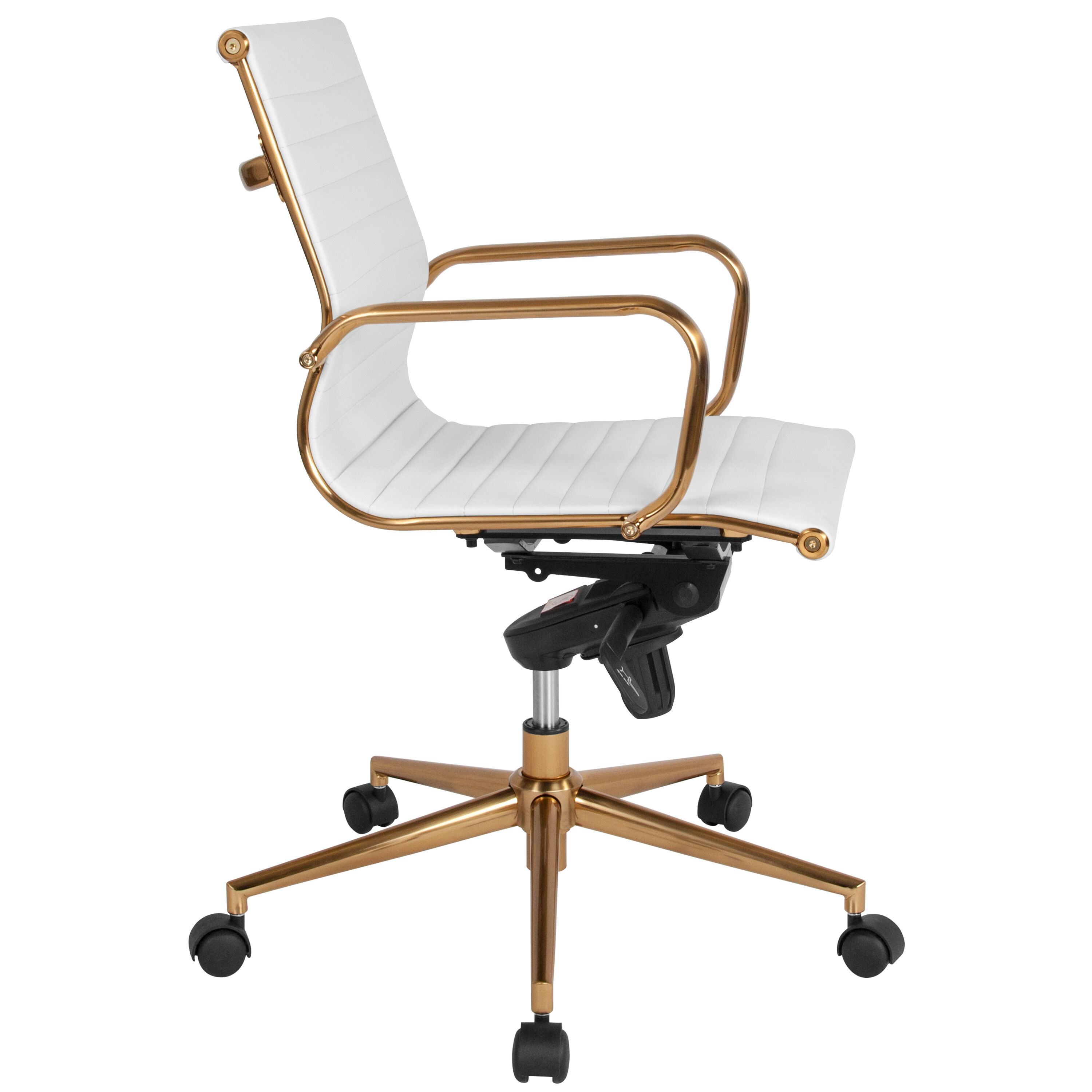 white leather swivel desk chair lace covers mid back office bt 9826m wh gd gg bizchair com