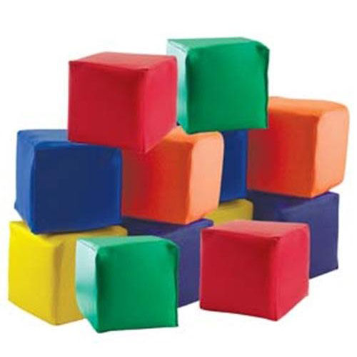 Our SoftZone Set of Twelve Colorful Vinyl Covered Foam
