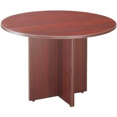 Biz Chair Com Baby Sit And Play Round Conference Table Ml127 Mahogany Bizchair