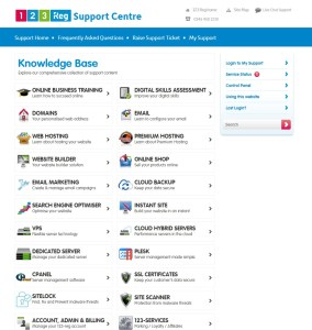 A screenshot of the 123 Reg contact page