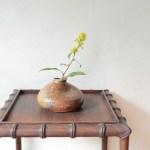 備前ちび花器 Takahiro Hosokawa -秋の麒麟草-