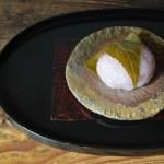 備前石目豆皿 Hiroaki Oomori -桜餅-