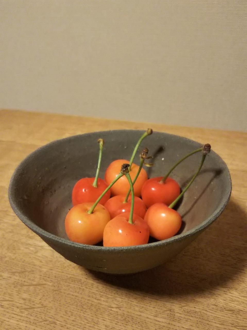 備前飯碗 Gosuke Yashiro -さくらんぼ-