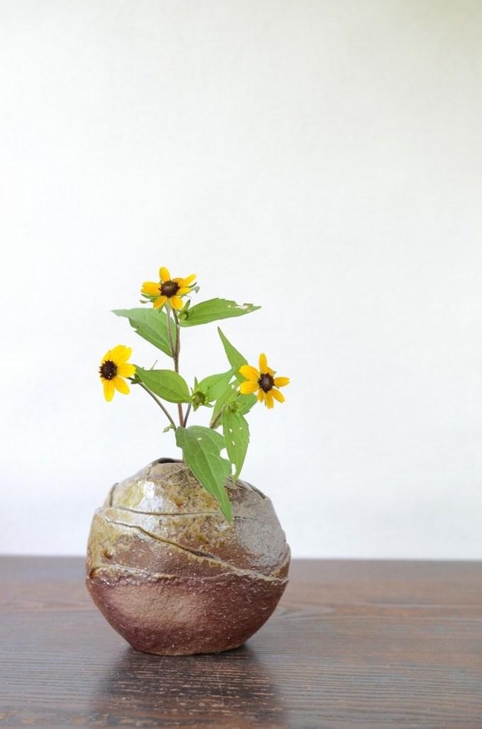 備前花器 Takuma Watanabe -ルドベキア-