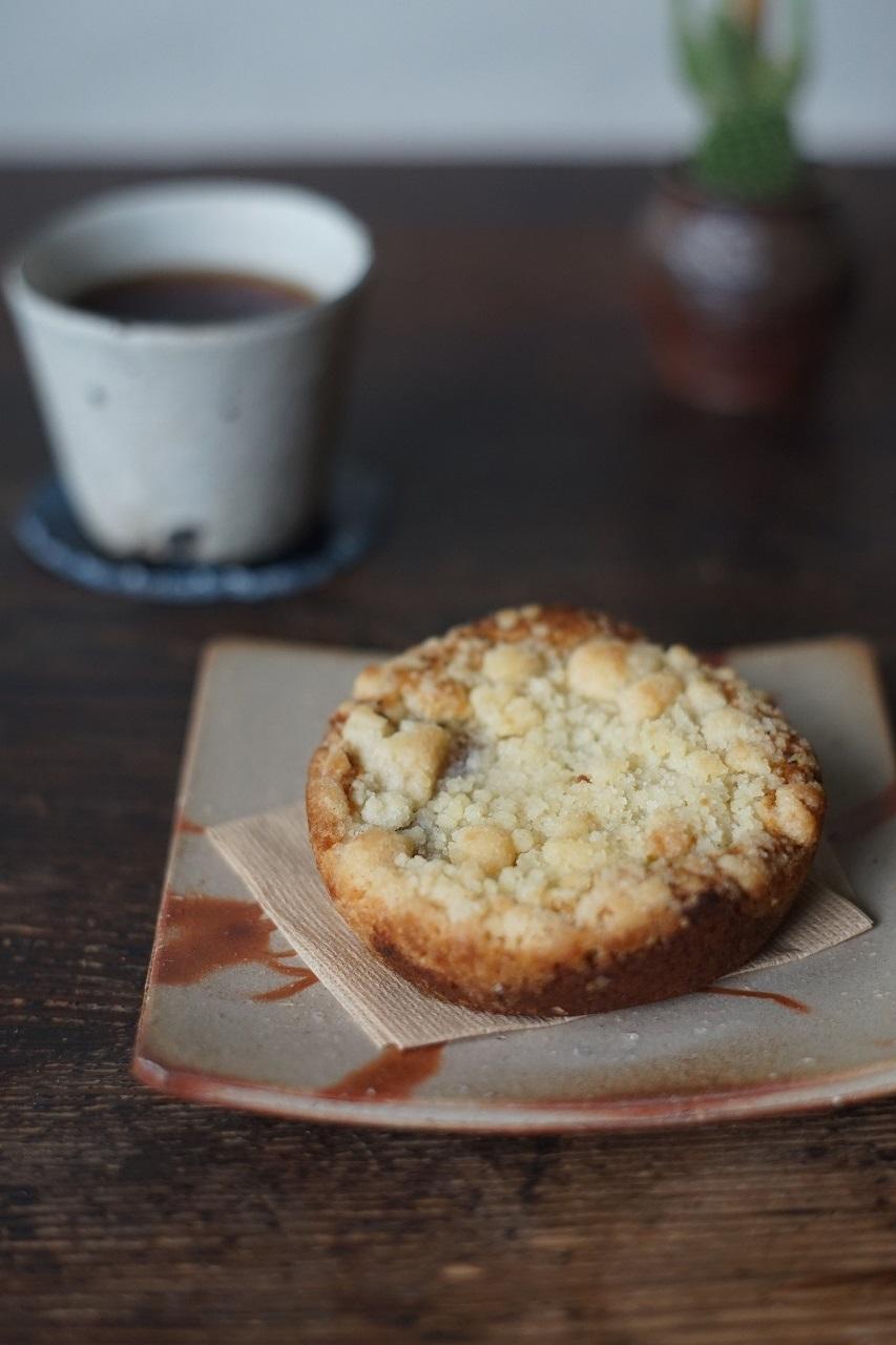 備前緋襷角皿 Kyo Isezaki -ラ・フランスと紅茶のケーキ-