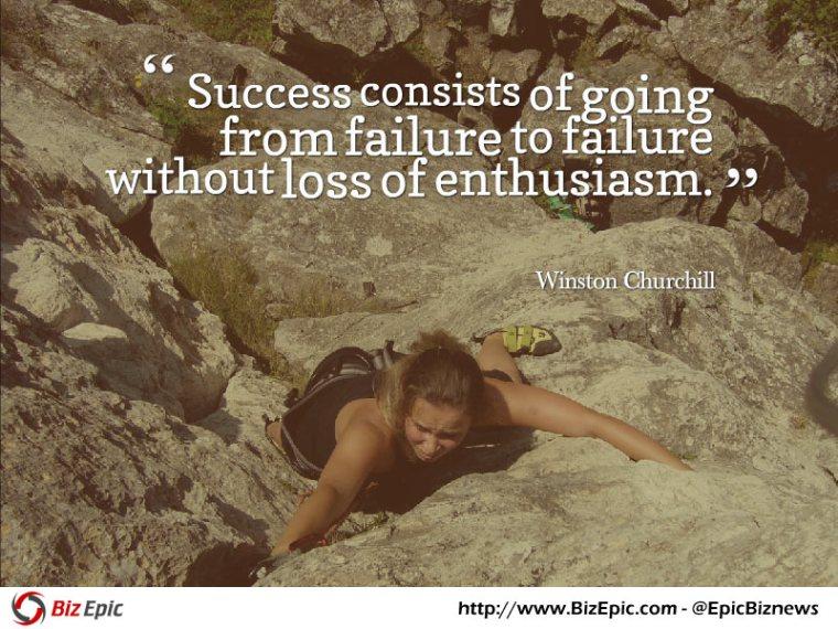Success quote - Winston Churchill