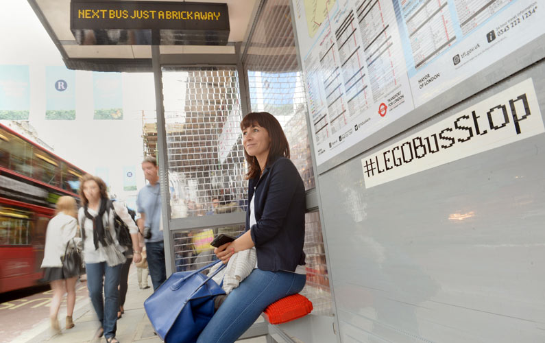 LEGO Bus Stop. Awesomeness.