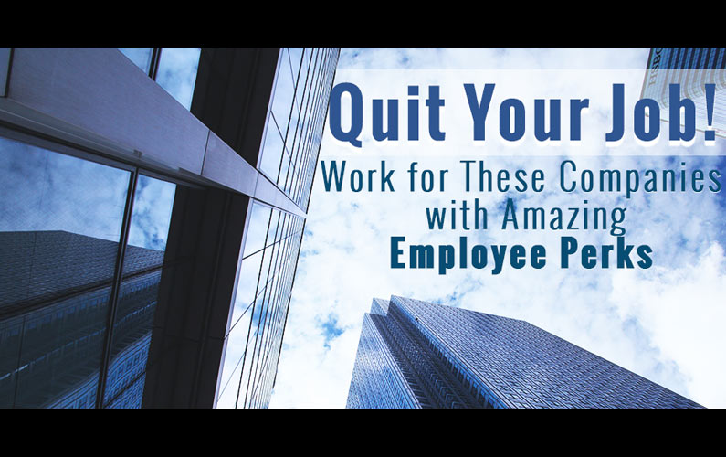 Top 13 Companies with Amazing Employee Perks – #11 is Life-changing