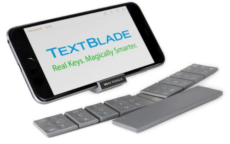 TextBlade: The World's Smallest Keyboard, Works With All Devices