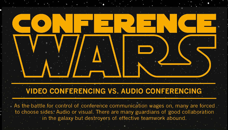 Conference Wars: Video vs. Audio (Infographic)