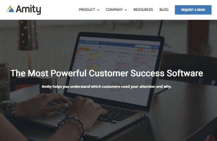 Amity website screenshot
