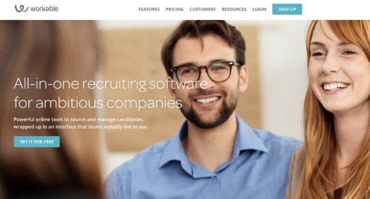 Workable website screenshot