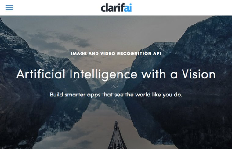 Clarifai website