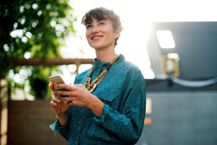 Happy female entrepreneur