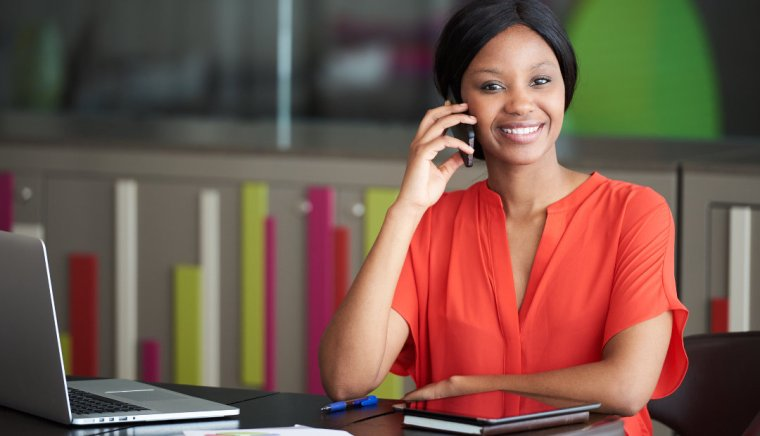 Business owner using virtual services
