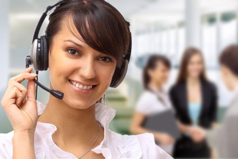 Friendly inbound call center staff