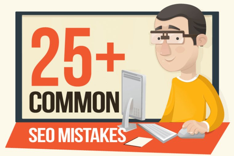 25+ SEO Mistakes That Are Costing You Search Engine Traffic (Infographic)