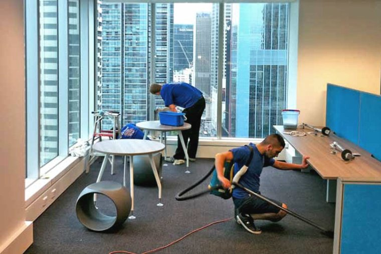 Providing cleaning service for a business client
