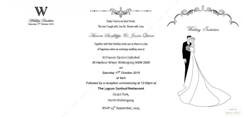 Diy Vine Wedding Invitation With Art Deco Band Print