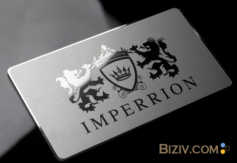 Mirror Metal Business Cards-Biziv promotional products