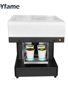 OYfame 4 cup Coffee Printer Automatic Art Coffee Printer Latte Printing Machine For Cake Chocolate Dessert Biscuits Milk Tea