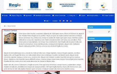 Targu Jiu | Cum sa papi bani europeni iar apoi sa te lamentezi ca nu ai turism