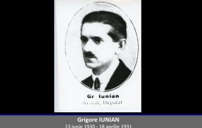 Grigore Iunian – omul cu un rol însemnat în politica românească