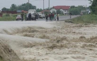 Cod portocaliu de inundații pentru județul Gorj
