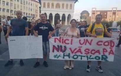 Zece protestatari din Targu Jiu au plecat spre capitala