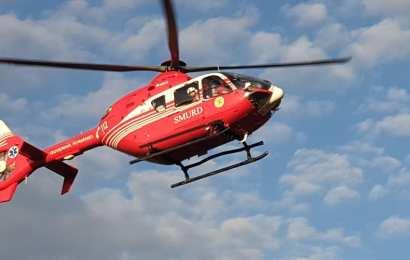 A căzut de la 15 metri și l-a luat elicopterul SMURD