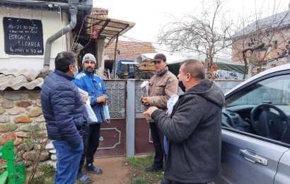 Locuitorii din Turburea, alături de echipa PSD