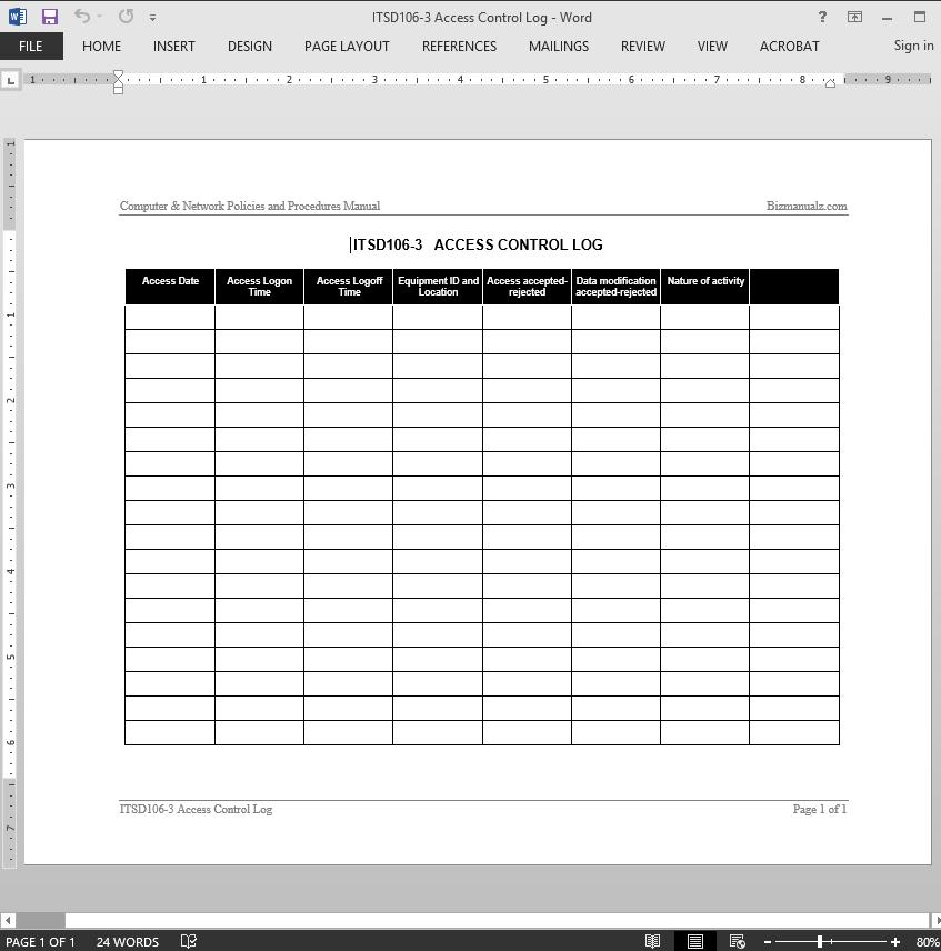 Glucometer Control Sheet