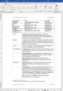 Aerospace Management Review Procedure AS9100
