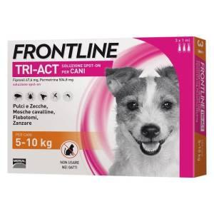 frontline tri-act spot-on per cani di 5-10 kg