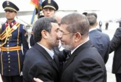 Morsi and Ahmadinijad in Egypt