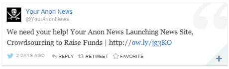 Your Anon News website announcement