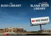 Blame Bush library